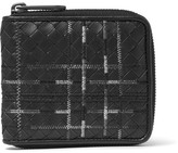 Bottega Veneta Embroidered Intrecciato Leather Wallet - Black
