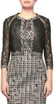 Kay Unger Lace and Tweed Bolero Jacket