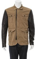 DSQUARED2 Leather-Trimmed Safari Jacket