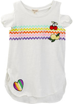 Ten Sixty Sherman Cold Shoulder Patch Tee (Big Girls)