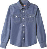 Joe Fresh Kid Girls' Denim Shirt, Medium Wash (Size XL)