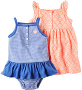 Carter's 2-Pack Neon Dress & Sunsuit Set