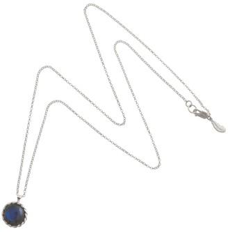 Harry Rocks Love Charm Layering Necklace Silver Labradorite