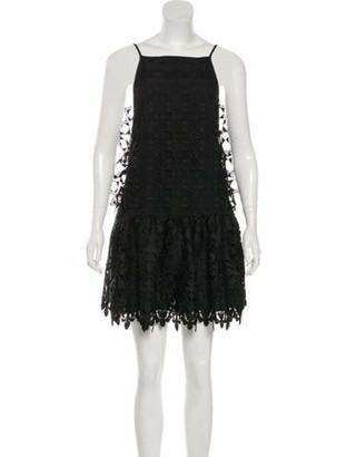No.21 No. 21 Embroidered Mini Dress Black No. 21 Embroidered Mini Dress