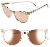 Linda Farrow Women's 54Mm 18 Karat Rose Gold Trim Retro Sunglasses - Ash/ Rose Gold/ Rose Gold
