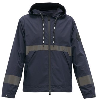 Moncler Reflective-stripe Technical Hooded Jacket - Navy