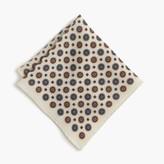 J.Crew English wool pocket square in medallion print