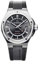 Eterna Men's Royal KonTiki GMT 42.55mm Black Rubber Band Steel Case Automatic Analog Watch 7740-40-41-1289