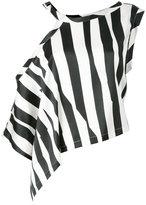 Ann Demeulemeester striped asymmetric blouse - women - Silk/Spandex/Elastane - 36