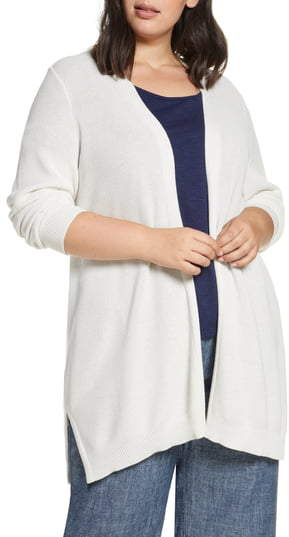 Eileen Fisher Simple Textured Stitch Cardigan