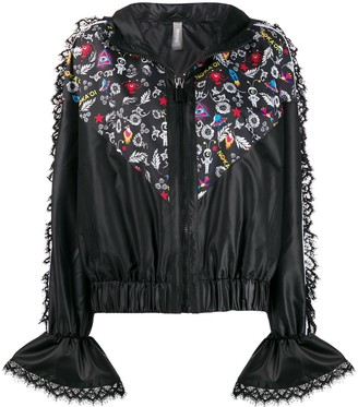 NO KA 'OI Lace Detail Hooded Jacket
