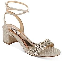 Badgley Mischka Women's Jada Embellished Strappy Sandals