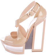 Casadei Patent Leather Platform Sandals