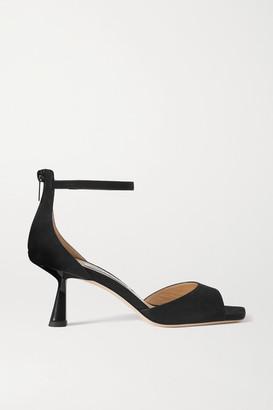 Jimmy Choo Reon 65 Suede Sandals - Black