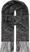 Etro Paisley Print Silk Evening Scarf
