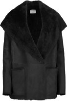 Vince Shearling hooded coat