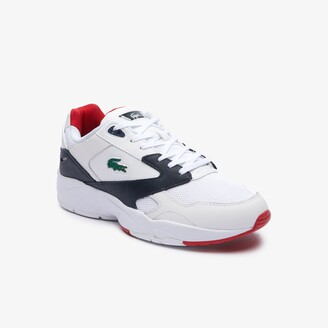 Lacoste Men's Storm 96 LO Mesh and Leather rubber crocodile Trainers