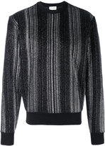 Saint Laurent sparkly striped jumper - men - Cotton/Polyester - S