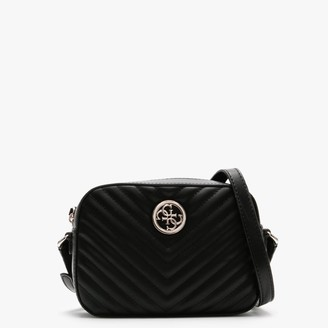 GUESS Kamryn Black Quilted Shoulder Bag