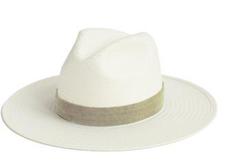Janessa Leone Marcelle Straw Fedora Hat