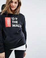 Vans Oversized Pullover Off The Wall Logo Hoodie In Black