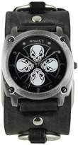 Nemesis Men's 932FRBK Skull Iron Cross Series Analog Display Japanese Quartz Watch