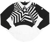 Armani Junior Cotton Blend Sweater W/ Shirt Details