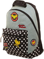 Bioworld Wonder Woman Denim Patch Backpack