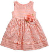 Sweet Heart Rose Lace Overlay Dress, Little Girls