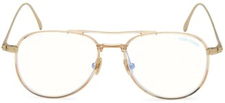 Tom Ford 52MM Aviator Blue Block Optical Glasses