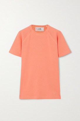 Victoria Victoria Beckham Neon Ribbed Cotton-jersey T-shirt