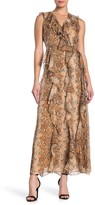 Diane von Furstenberg Lacey Snake Print Silk Maxi Dress