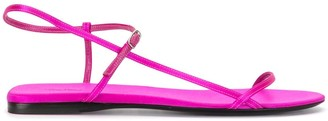 The Row Bare flat satin sandals