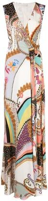 Etro Flared Wrap-Style Maxi Dress