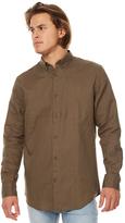 Zanerobe Linen 7ft Mens Ls Shirt Green
