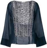 Aviu knit panel blouse