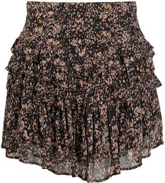 IRO Roxana tiered floral-print mini skirt