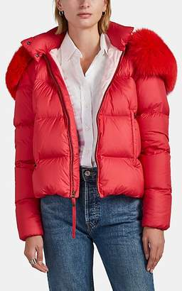 Mr & Mrs Italy Women's Fur-Trimmed Down Puffer Coat - Pink