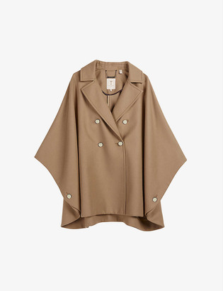 Ted Baker Donnata double-breasted wool-blend cape coat
