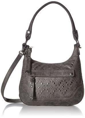 Frye Melissa Studded Zip Hobo Crossbody Handbag