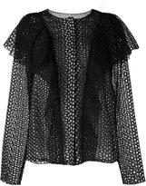 Lanvin perforated ruffle jacket - women - Silk/Cotton - 36