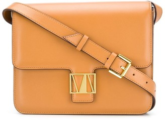 MANU Atelier Square Logo Crossbody Bag