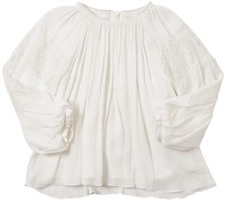 Chloé Viscose Crepe Shirt W/ Lace Detail