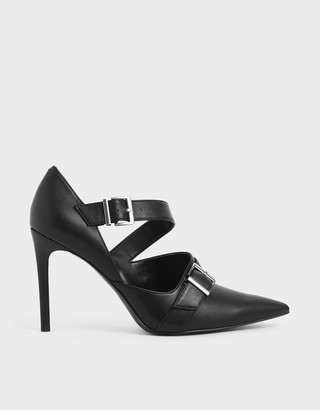 Charles & Keith Strappy D'Orsay Stiletto Pumps