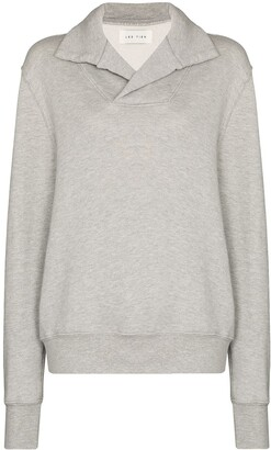 LES TIEN Yacht melange-effect cotton sweatshirt