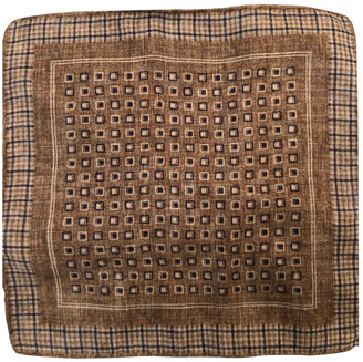 Brunello Cucinelli Brown Silk Scarves & pocket squares