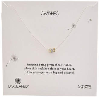 Dogeared Wish Collection Silver Crystal Necklace
