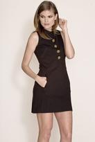 Corey Lynn Calter June Button Shift Dress in Onyx