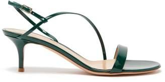 Gianvito Rossi Manhattan 55 Patent-leather Sandals - Womens - Dark Green