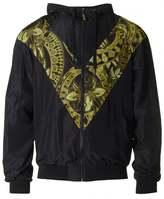 Versace Jeans Zip Through Panel Hooded Jacket